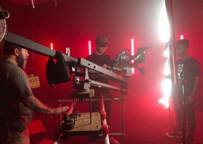 On Set of music video for Yukon.