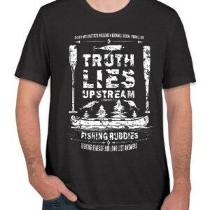 Truth Lies Upstream Tee Shirt - Heather Dark Grey