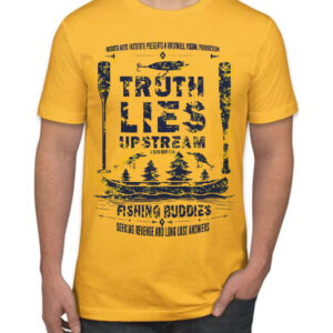 Truth Lies Upstream Tee Shirt - Heather Yellow